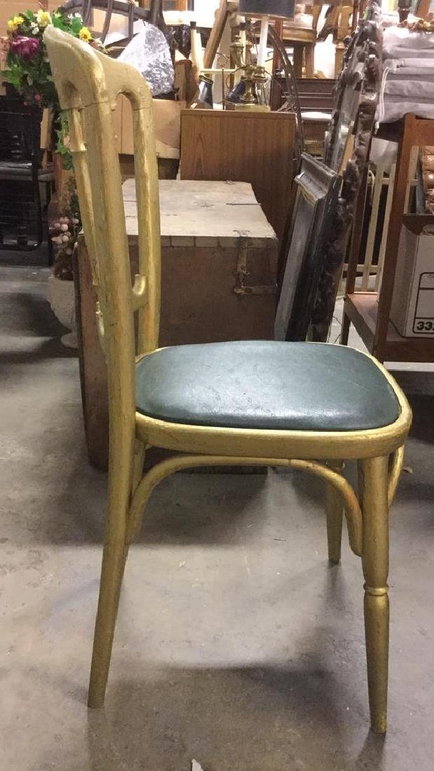 6 GRAISON Gold Toned Carved Wooden Chairs - 5