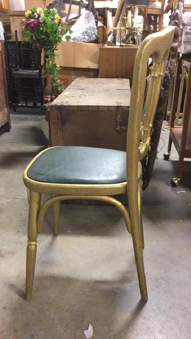 6 GRAISON Gold Toned Carved Wooden Chairs - 7