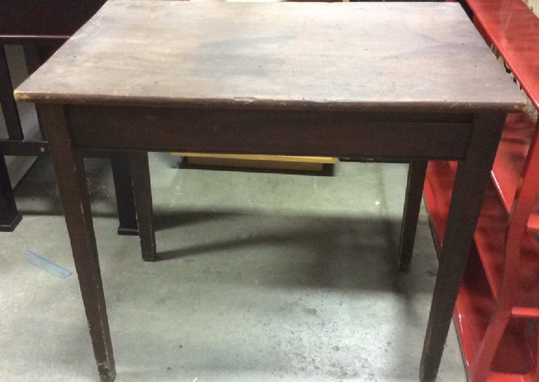 Brown Toned Wooden Table
