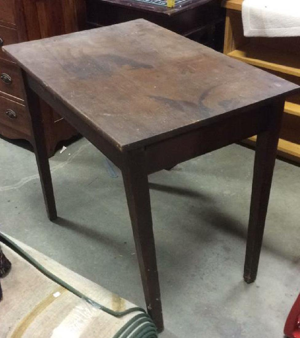 Brown Toned Wooden Table - 3