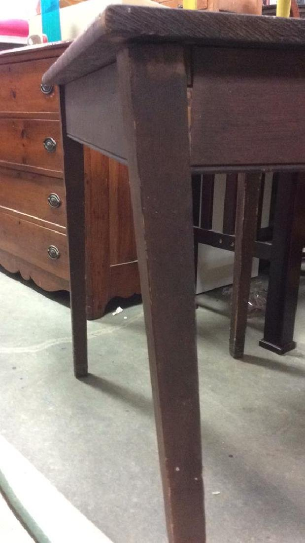 Brown Toned Wooden Table - 7