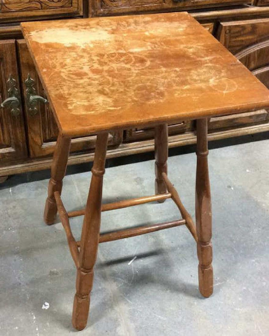 ANtique Tavenr Style Wooden Side Table