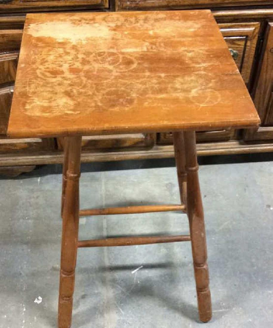 ANtique Tavenr Style Wooden Side Table - 2