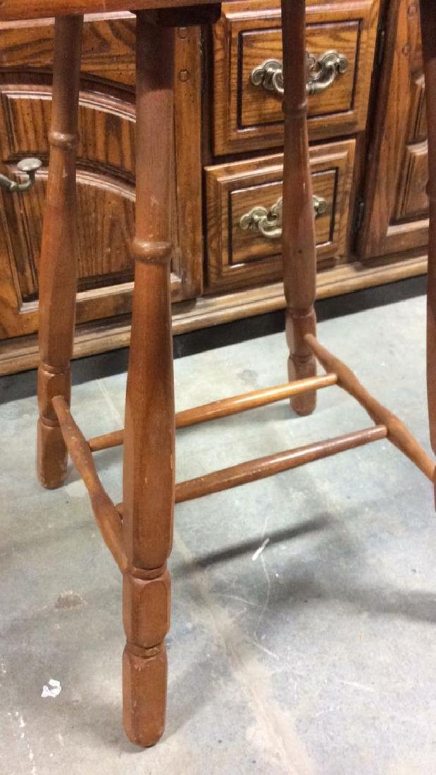 ANtique Tavenr Style Wooden Side Table - 5