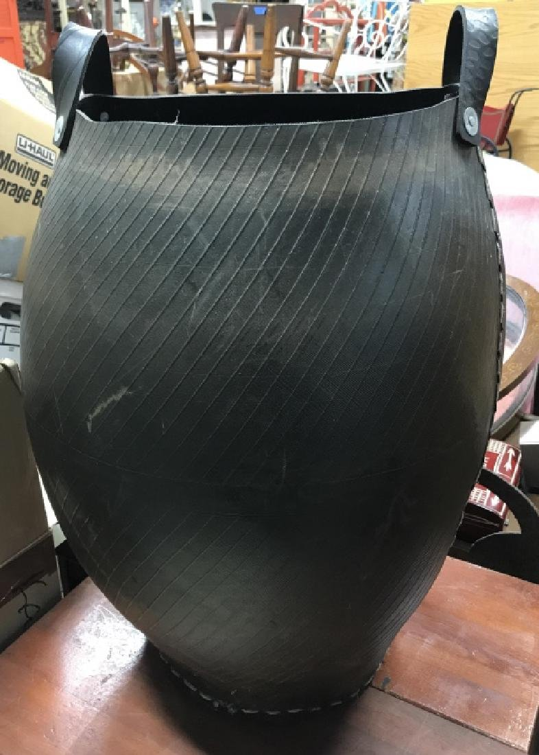 Large Two Handled Tire Rubber Vase