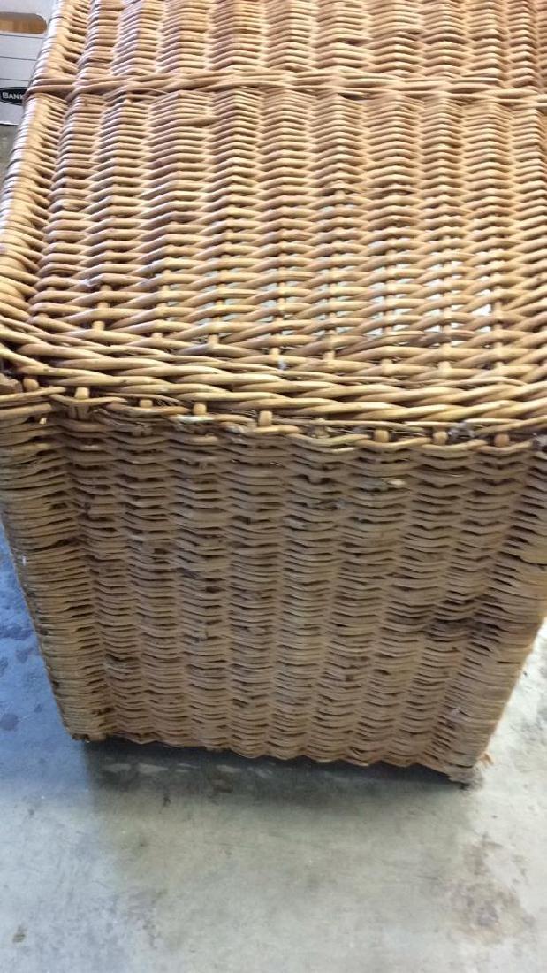 Woven Whicker Basket Planter Pail - 10