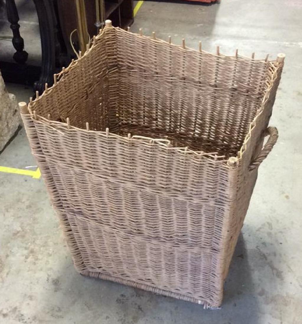 Woven Whicker Basket Planter Pail