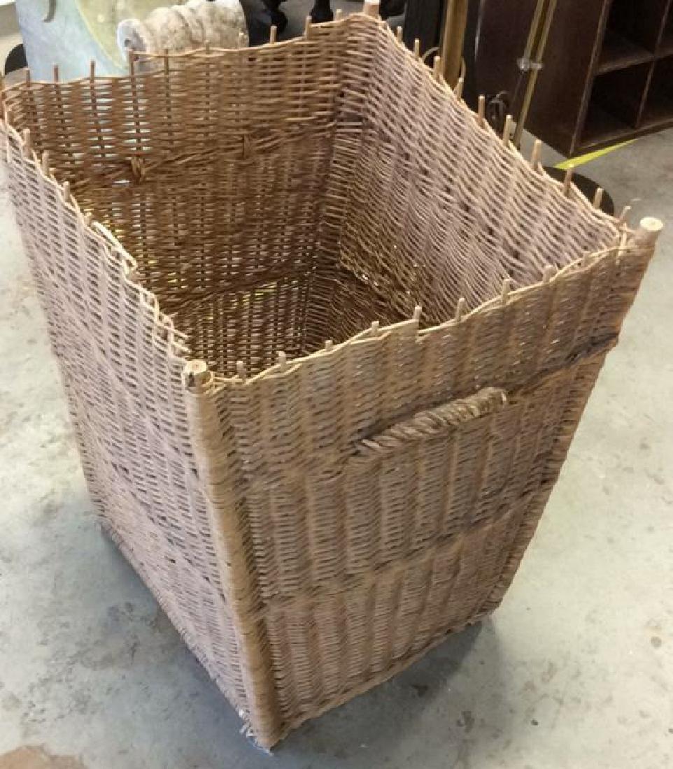 Woven Whicker Basket Planter Pail - 2