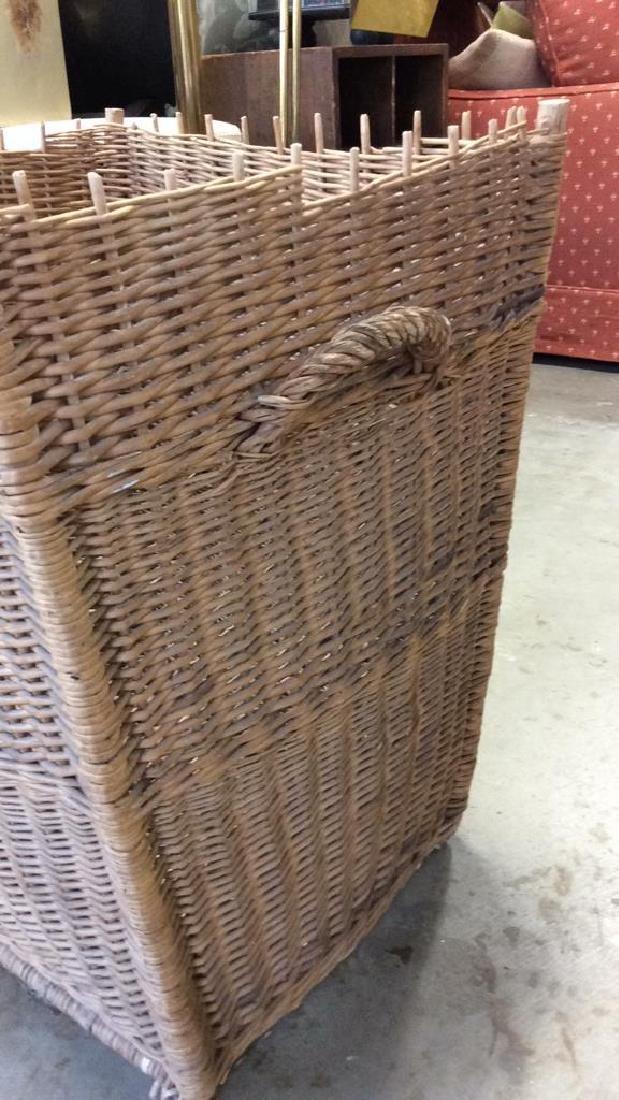 Woven Whicker Basket Planter Pail - 3