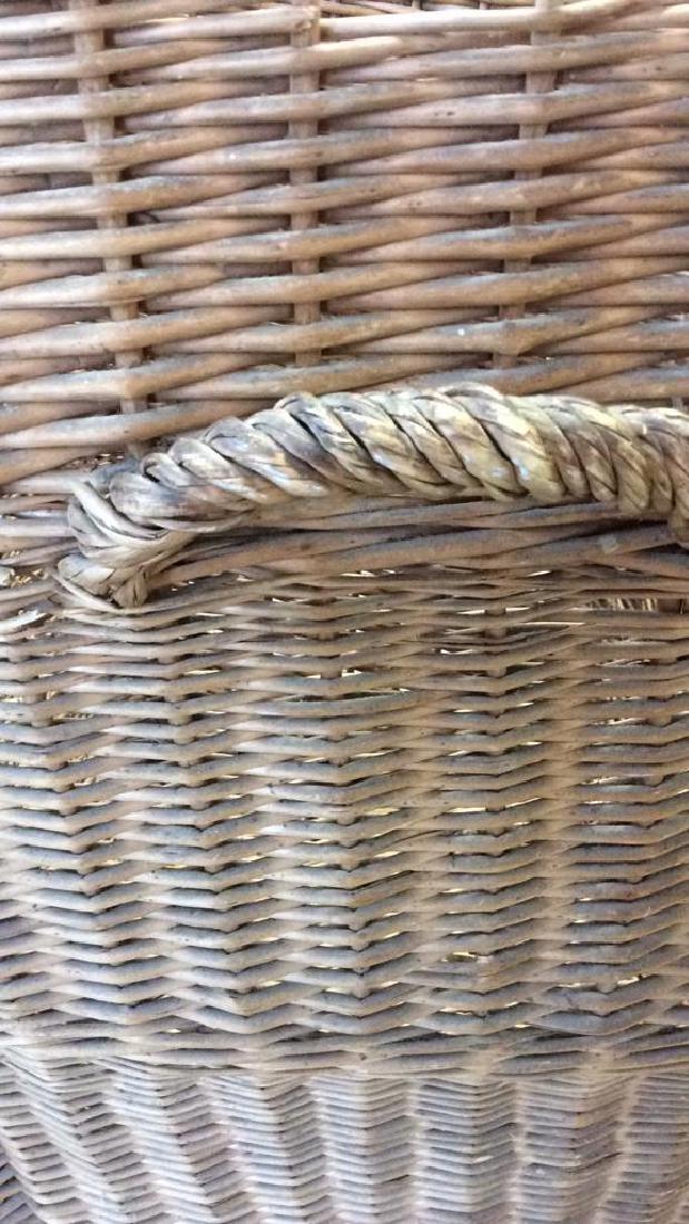 Woven Whicker Basket Planter Pail - 4