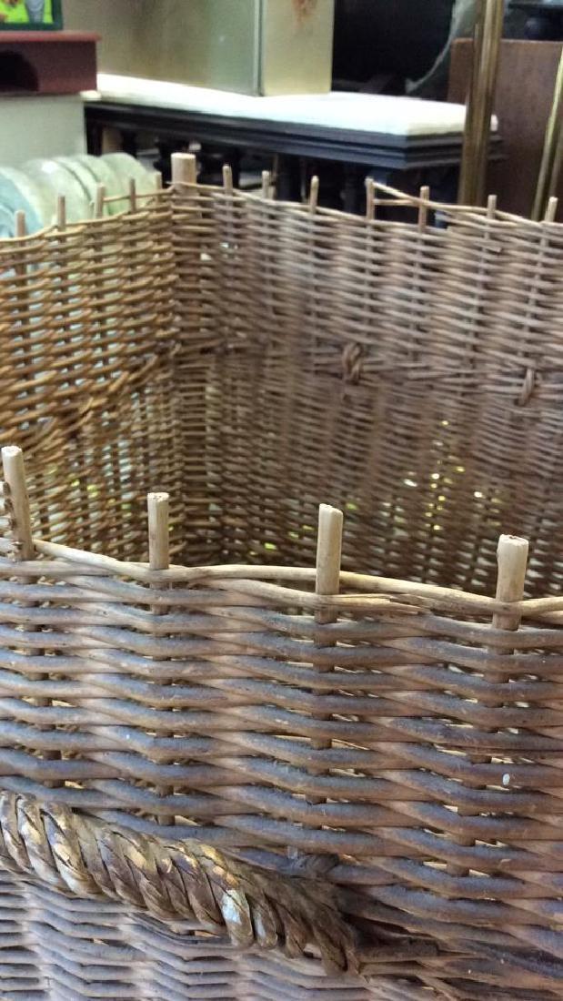 Woven Whicker Basket Planter Pail - 5