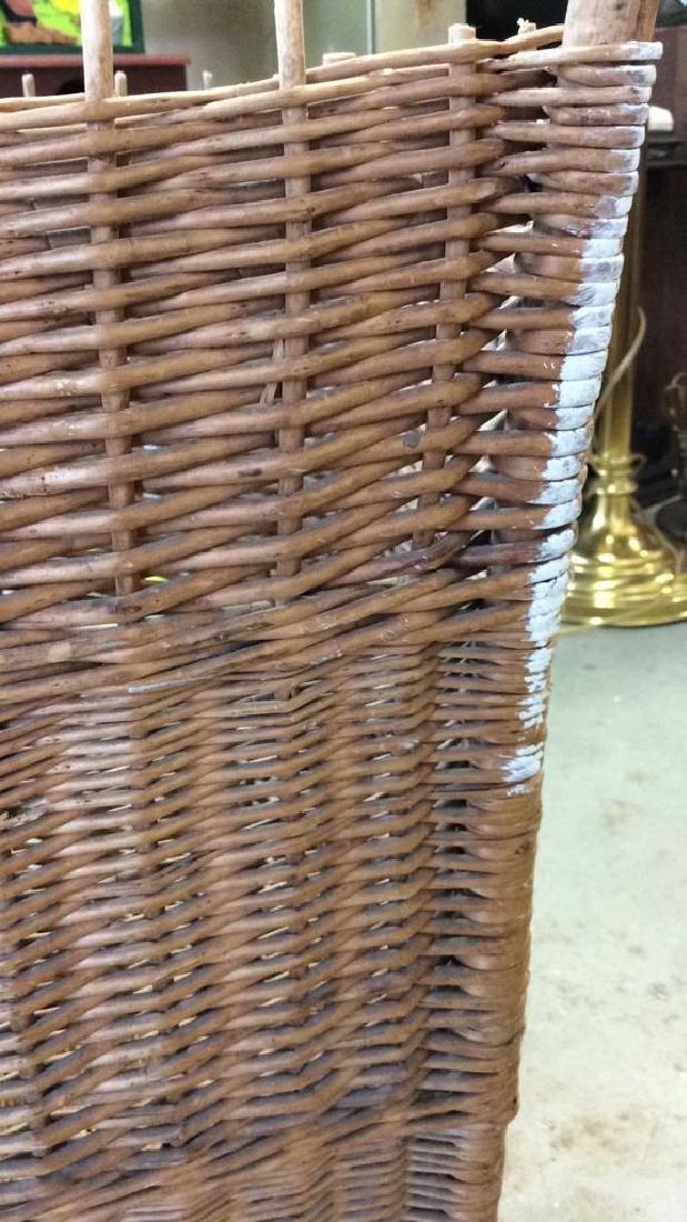 Woven Whicker Basket Planter Pail - 6
