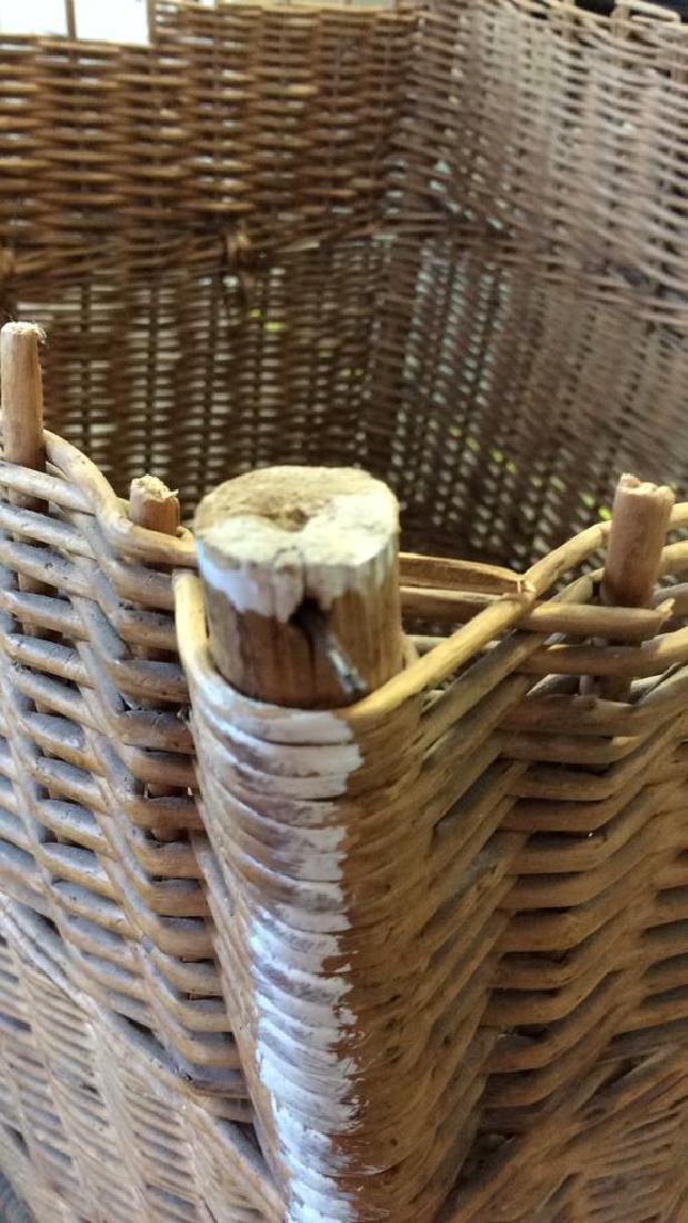 Woven Whicker Basket Planter Pail - 8