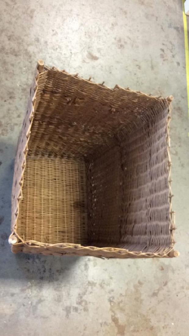 Woven Whicker Basket Planter Pail - 9