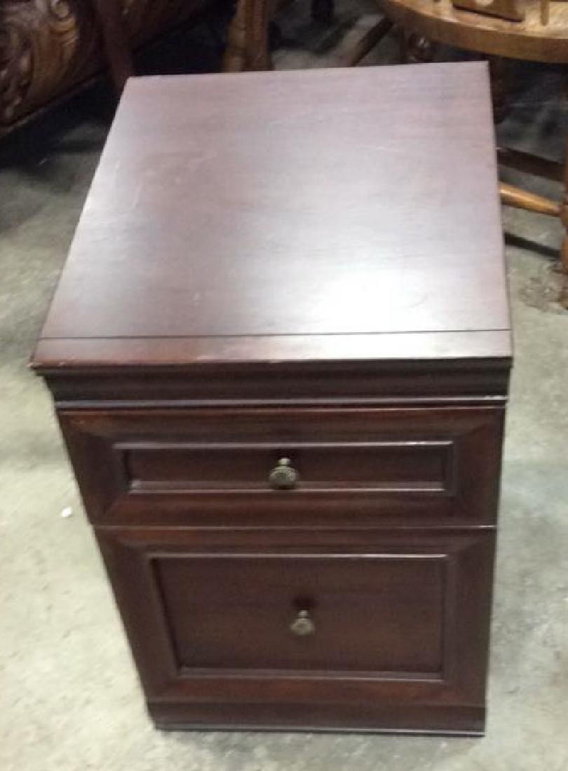 Dark Wooden Filing Cabinet Side Table