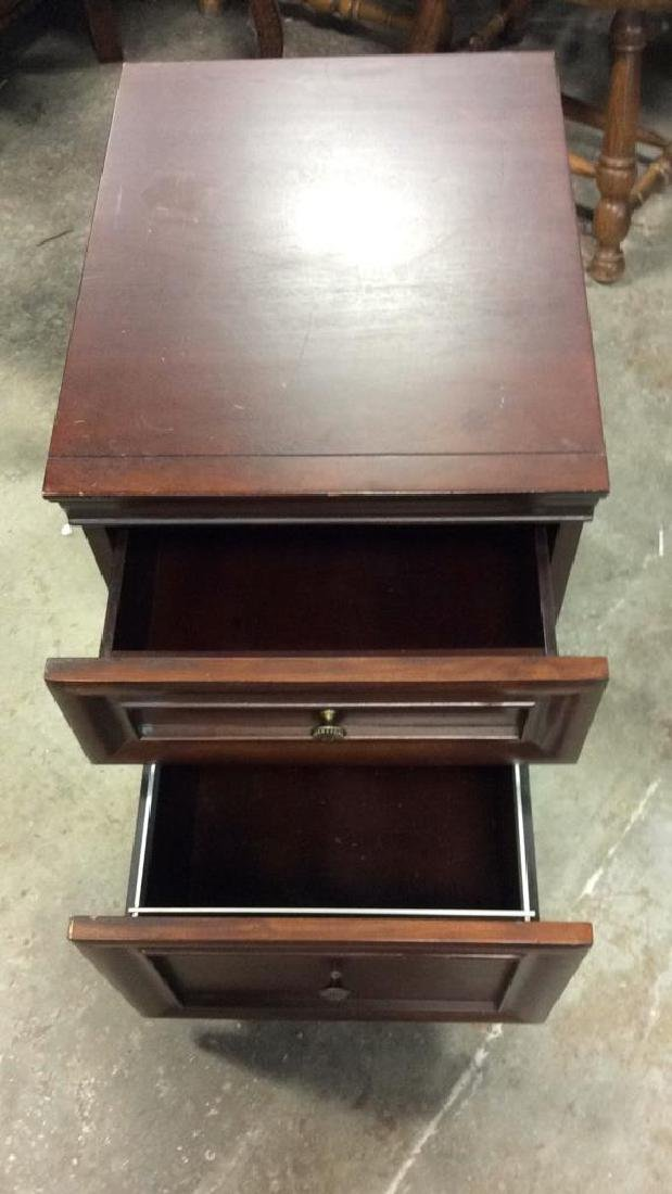 Dark Wooden Filing Cabinet Side Table - 3