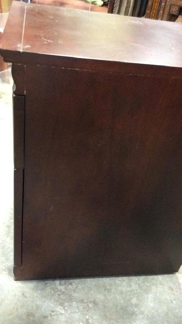 Dark Wooden Filing Cabinet Side Table - 6