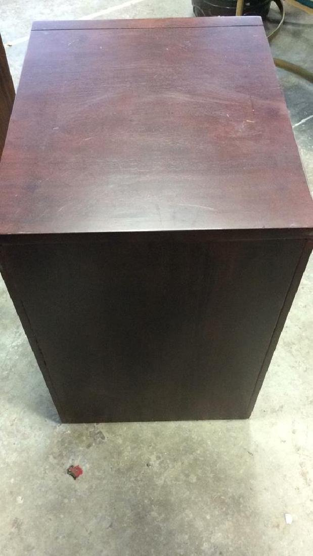 Dark Wooden Filing Cabinet Side Table - 7