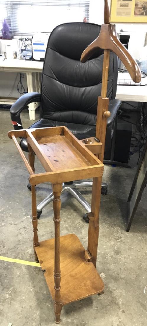 Vintage Gentlemans Wooden Valet Stand - 2