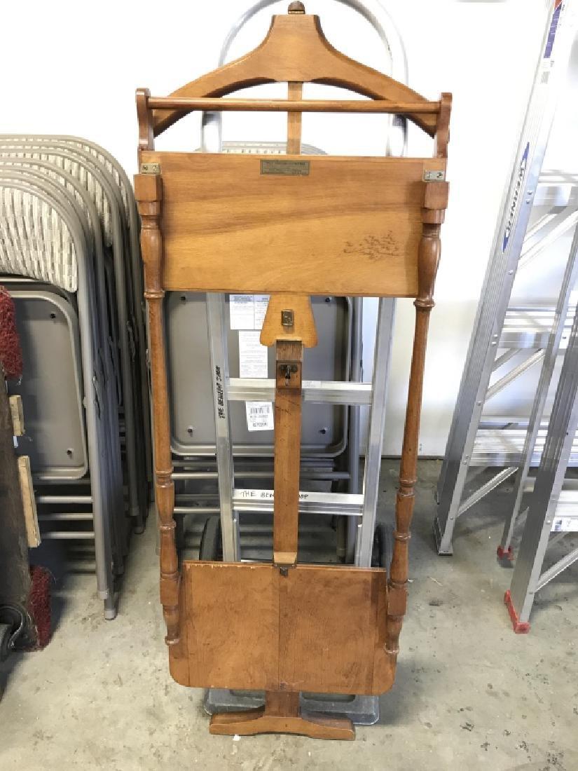 Vintage Gentlemans Wooden Valet Stand - 5