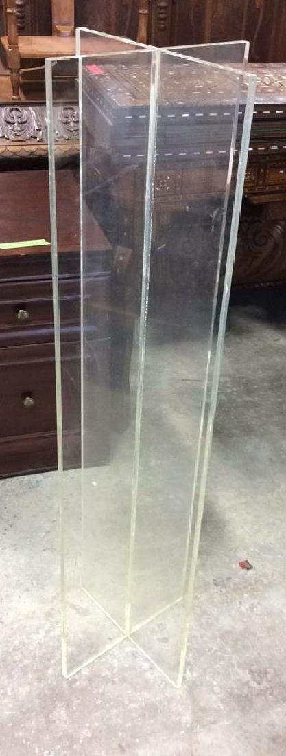 X Shaped Lucite Display Stand Base Pedestal