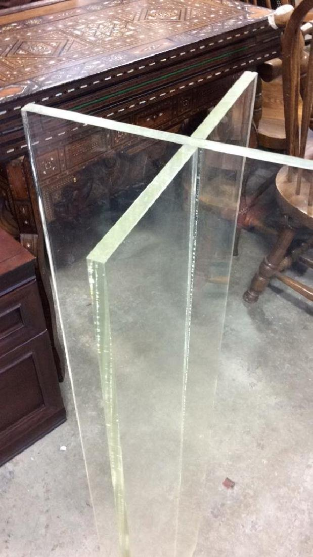 X Shaped Lucite Display Stand Base Pedestal - 2