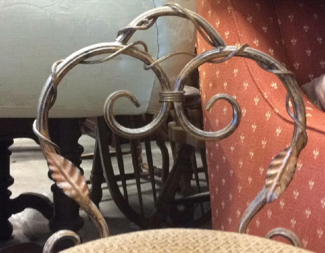 Vintage Mietal Leaf Form Upholstered Chair - 2