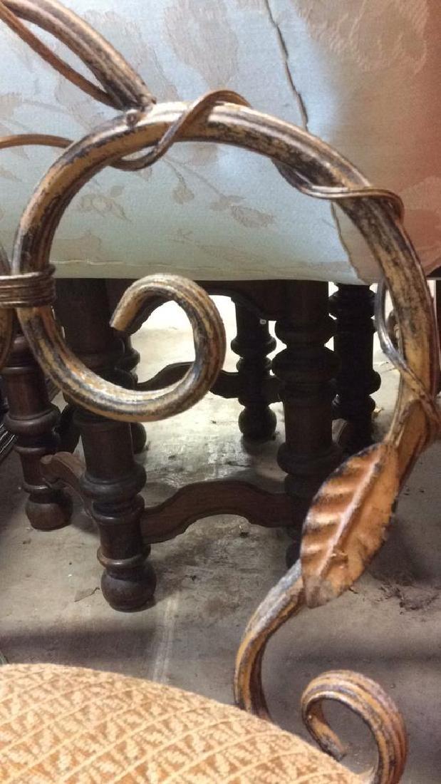 Vintage Mietal Leaf Form Upholstered Chair - 8