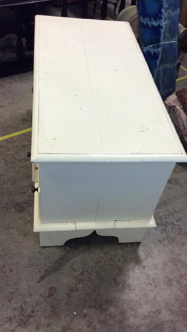 White toned Painted Coffee Side Table W Drawers - 6