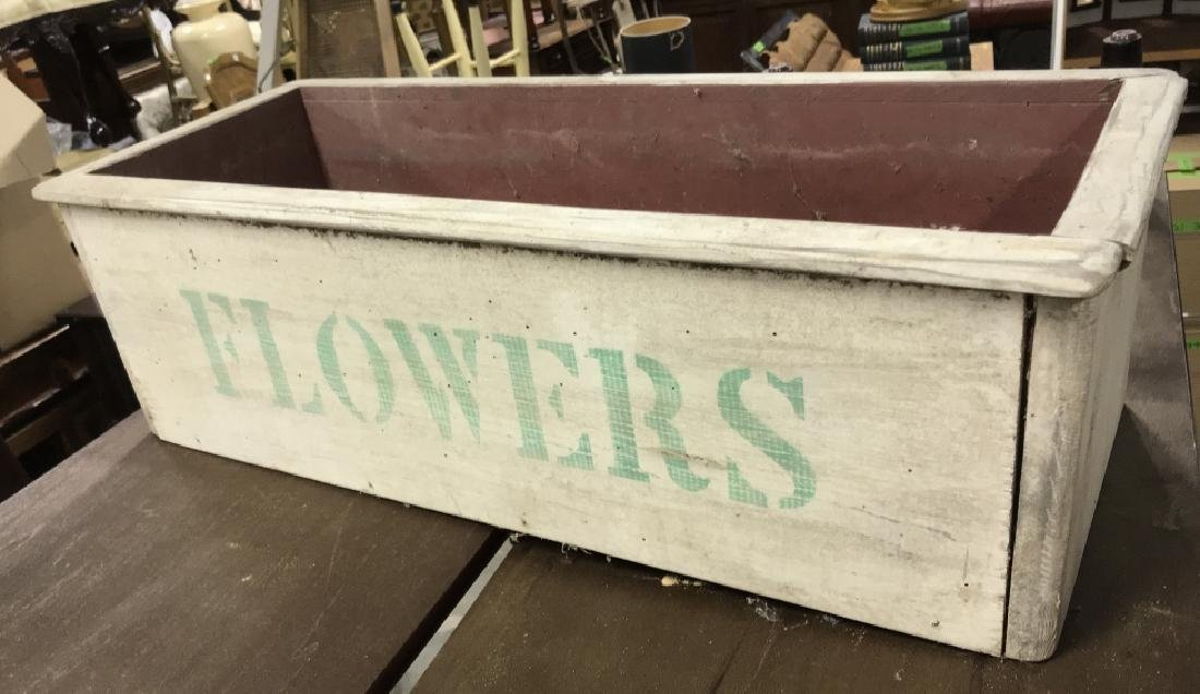 Vintage Painted Wooden Flower Box