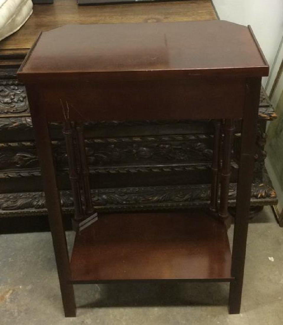 Brown Toned Glazed Wooden Nightstand - 7