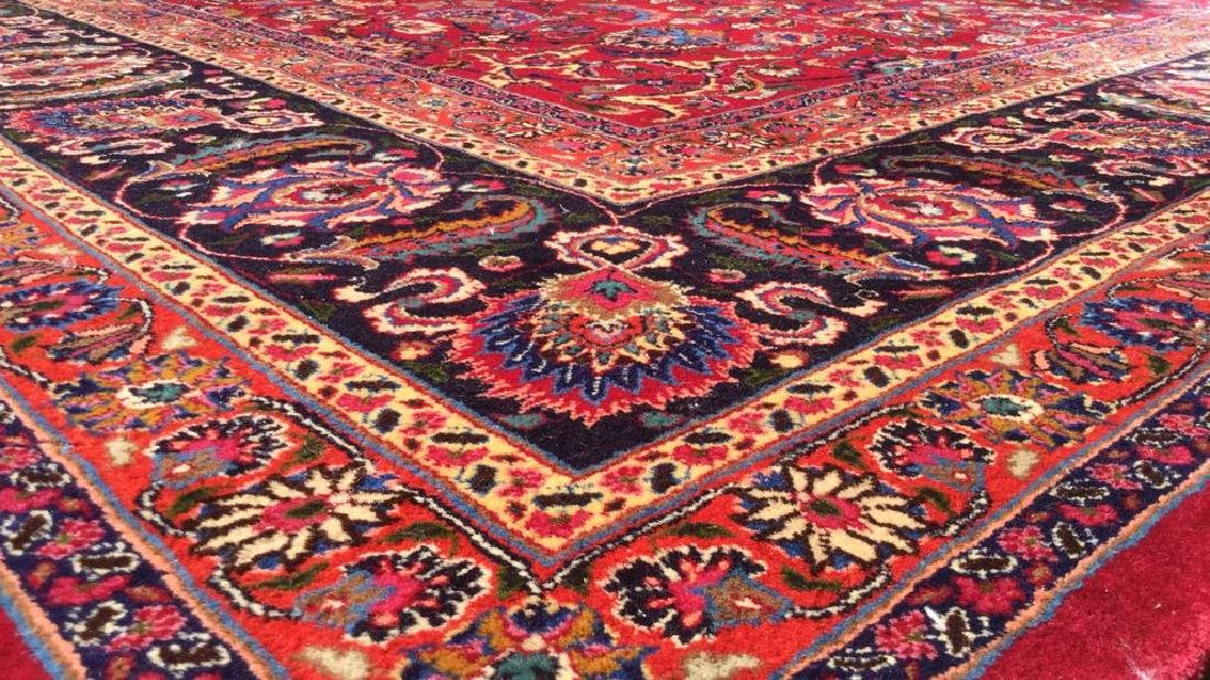 Hand Made Wool Oriental Carpet Room Size, MASHAD Rug