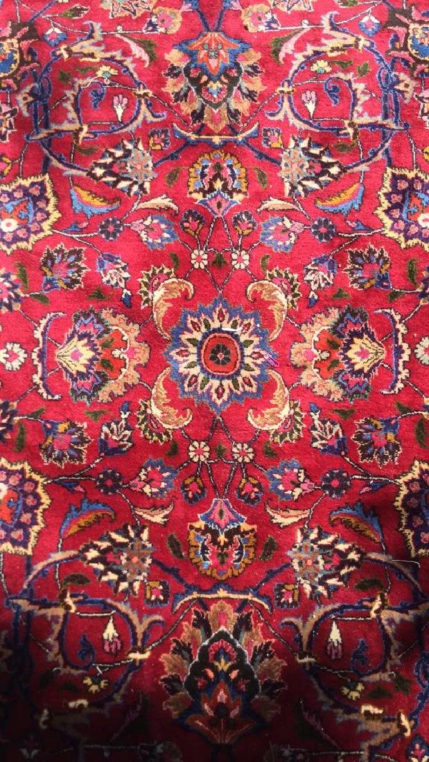 Hand Made Wool Oriental Carpet Room Size, MASHAD Rug - 2