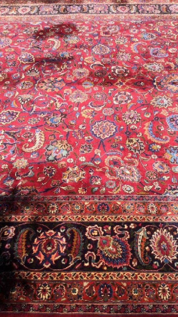 Hand Made Wool Oriental Carpet Room Size, MASHAD Rug - 4