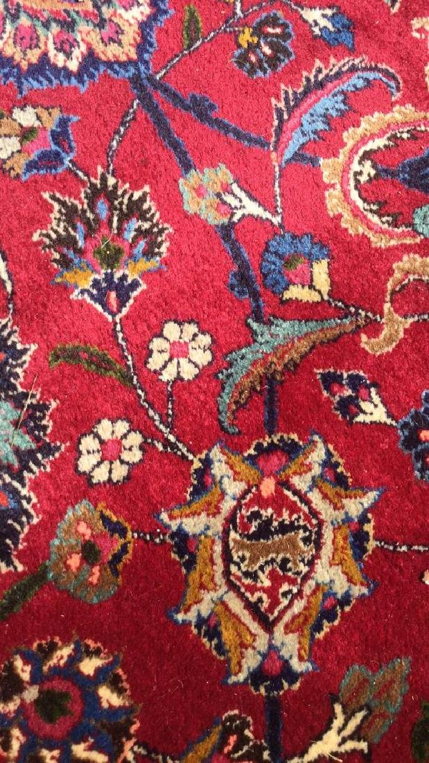 Hand Made Wool Oriental Carpet Room Size, MASHAD Rug - 7