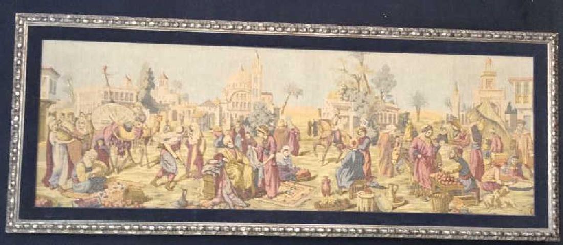 Framed Vintage French Tapestry - 2