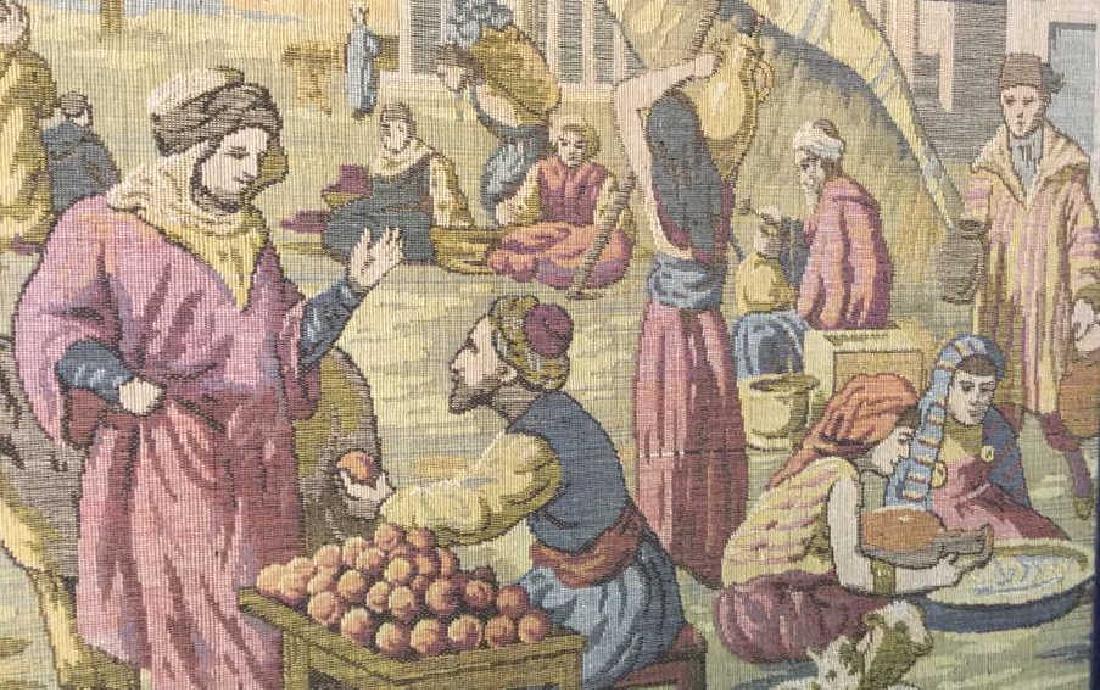 Framed Vintage French Tapestry - 3
