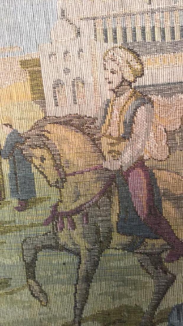 Framed Vintage French Tapestry - 5