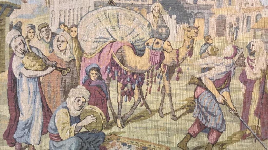 Framed Vintage French Tapestry - 7