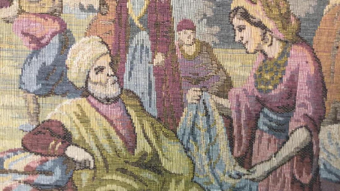 Framed Vintage French Tapestry - 8