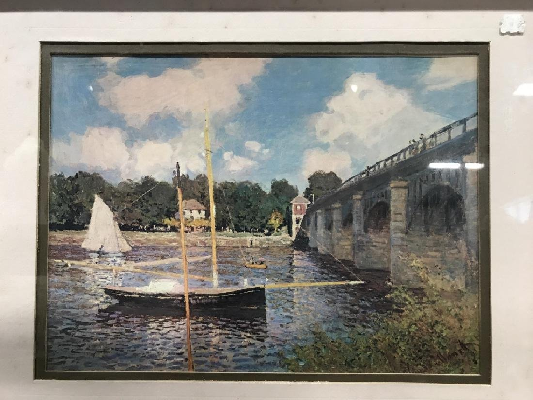 Framed Print Of Boat Near Bridge - 2