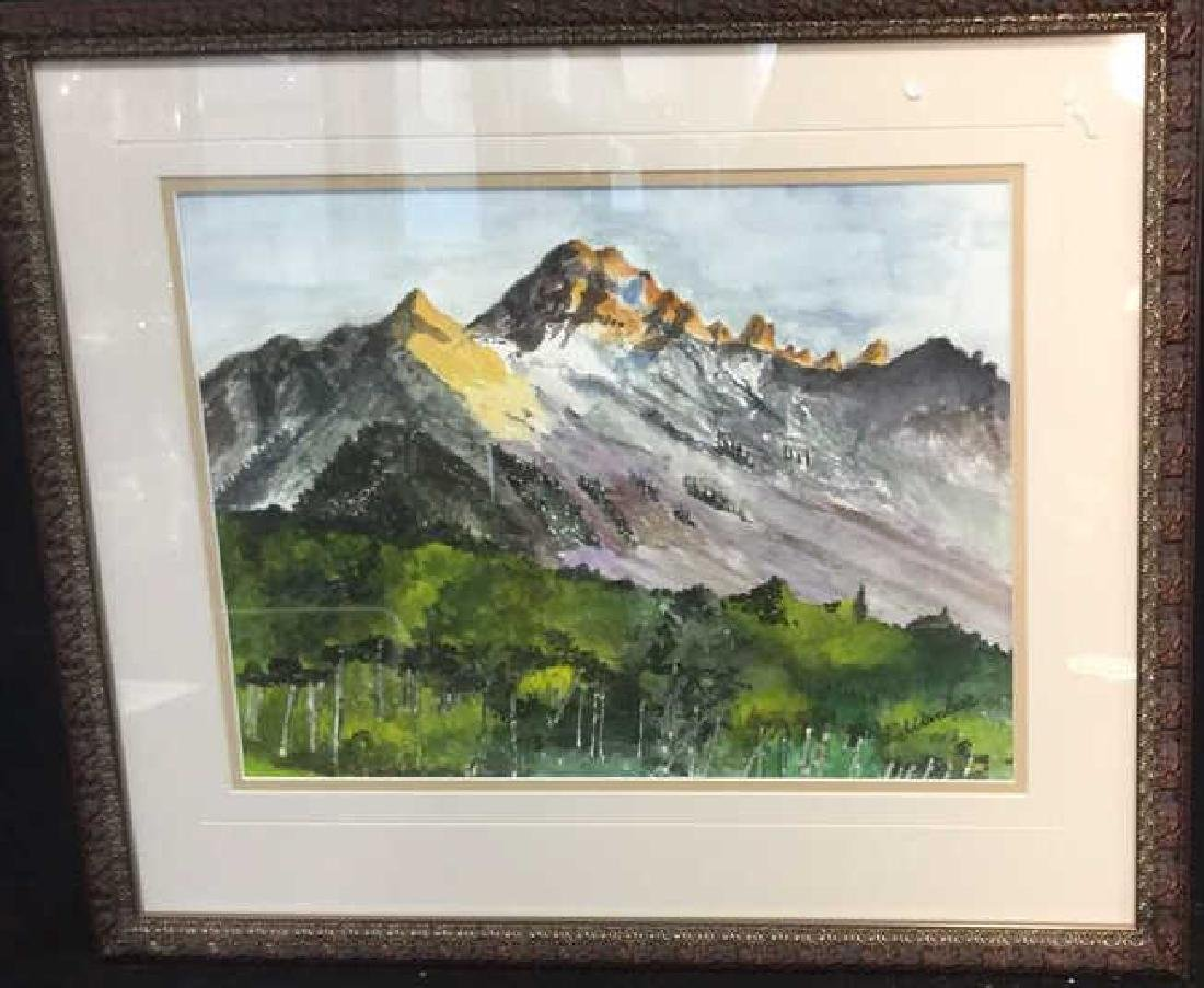 WANBIER Signed Watercolor Artwork Landscape