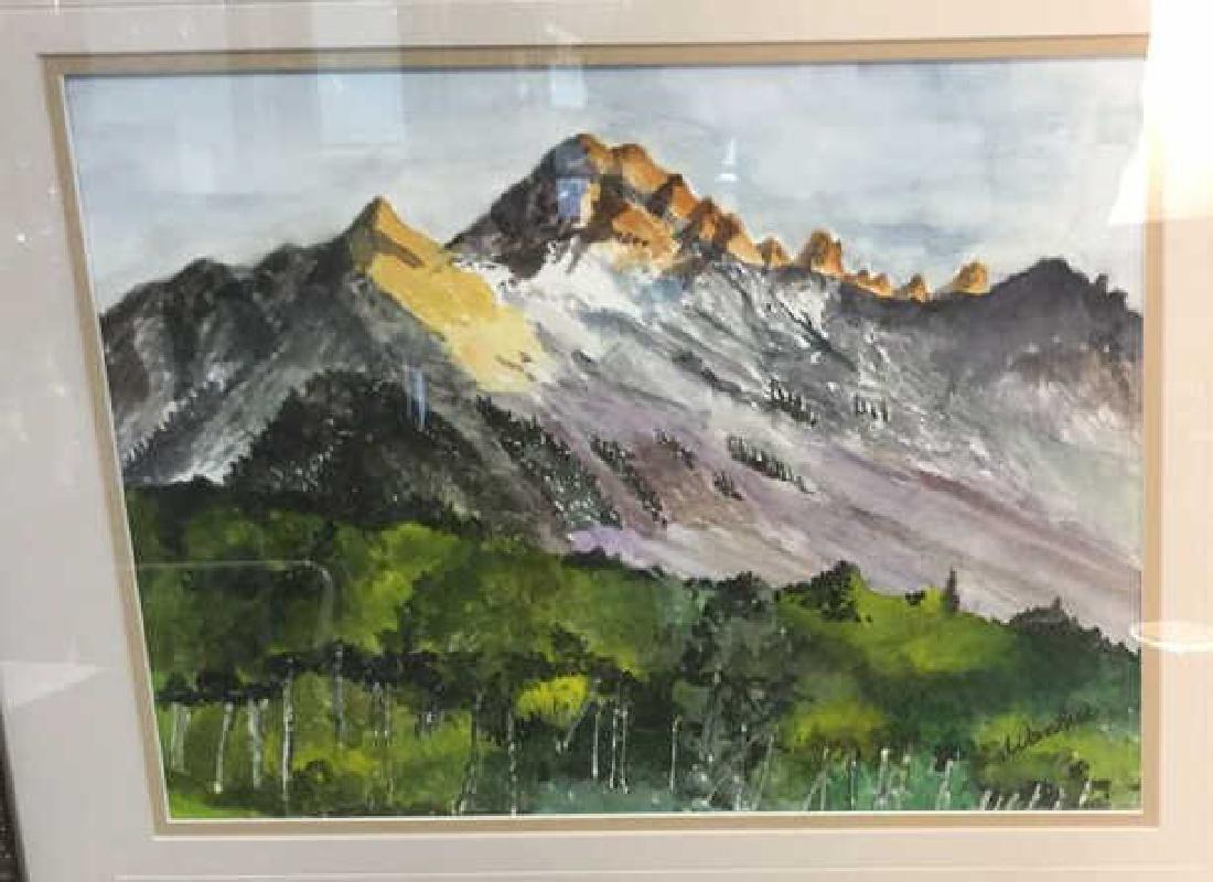 WANBIER Signed Watercolor Artwork Landscape - 2