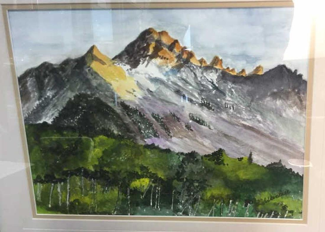 WANBIER Signed Watercolor Artwork Landscape - 3
