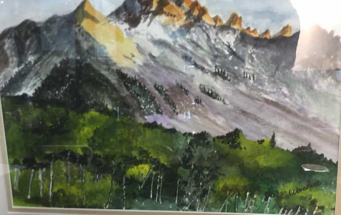WANBIER Signed Watercolor Artwork Landscape - 4
