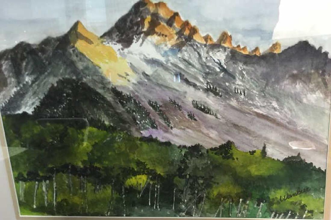 WANBIER Signed Watercolor Artwork Landscape - 6