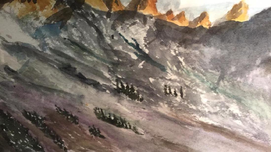 WANBIER Signed Watercolor Artwork Landscape - 7