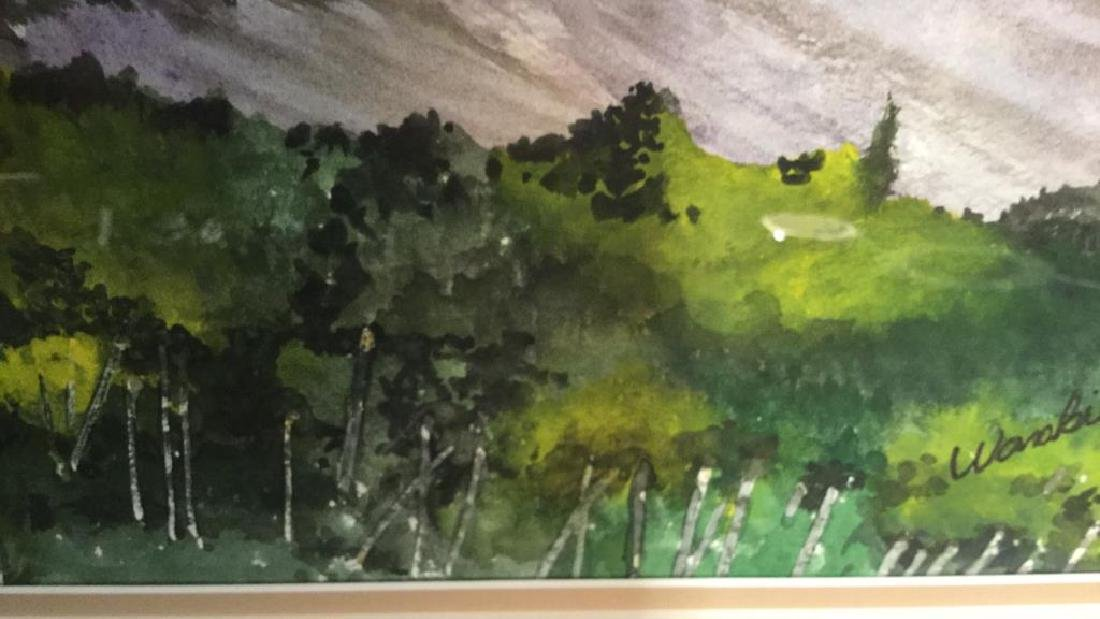 WANBIER Signed Watercolor Artwork Landscape - 8