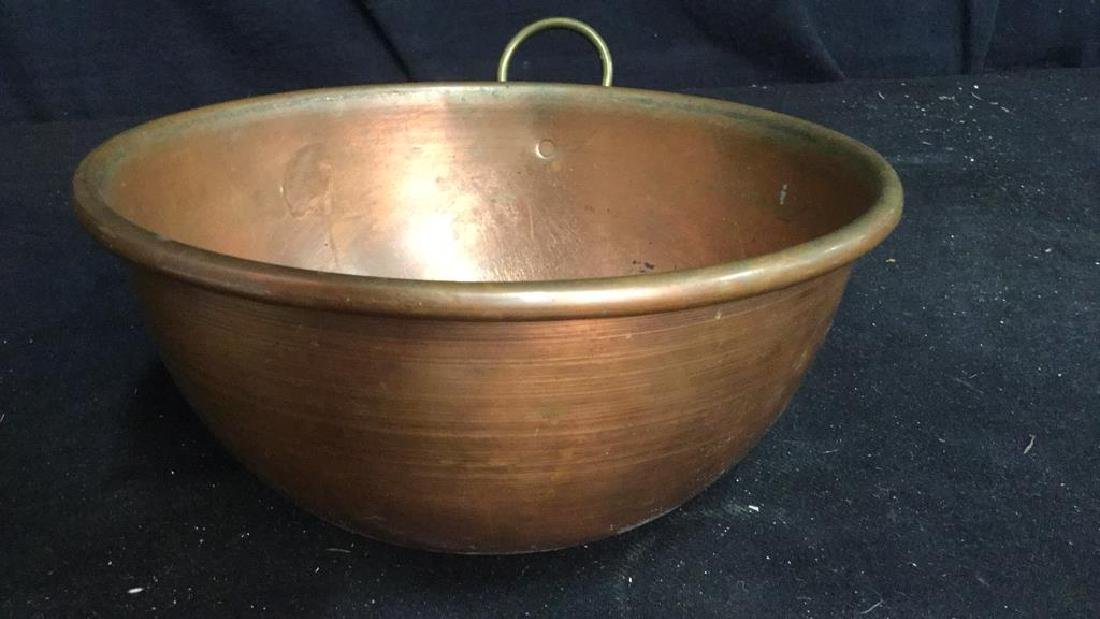 French Copper Mixing Bowl - 5