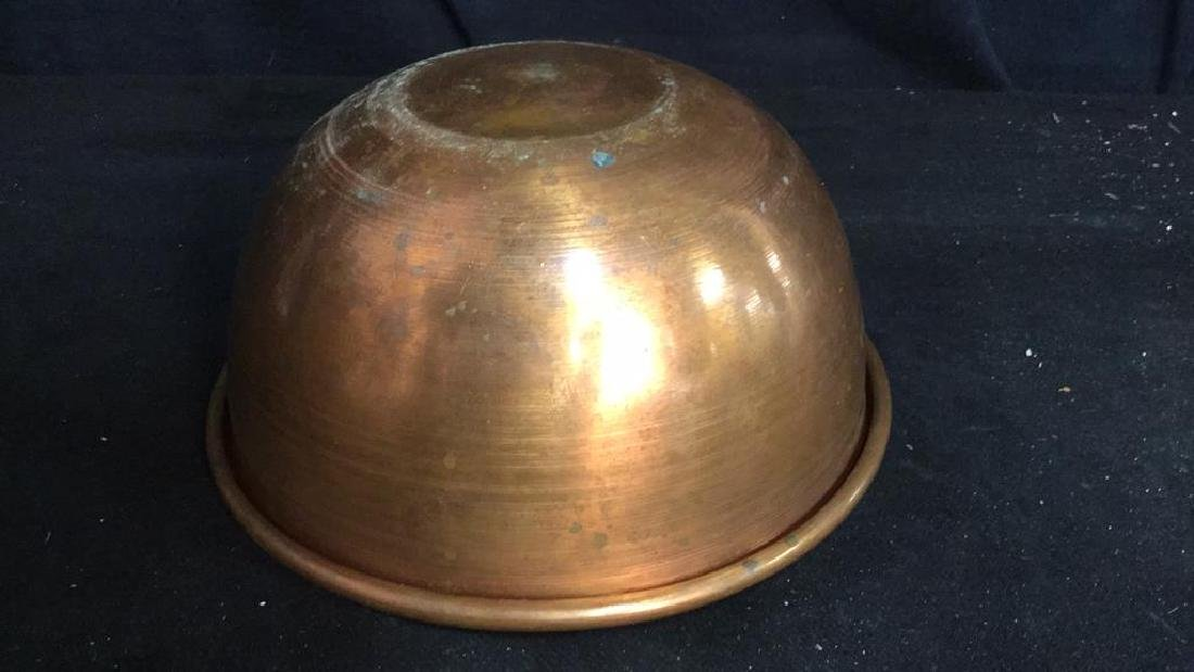 French Copper Mixing Bowl - 6